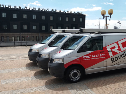 Royal Docks Electrical Electrician Near Me vans